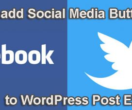 add social media buttons to post excerpts