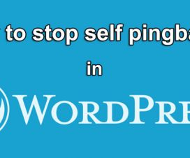 stop self pingback